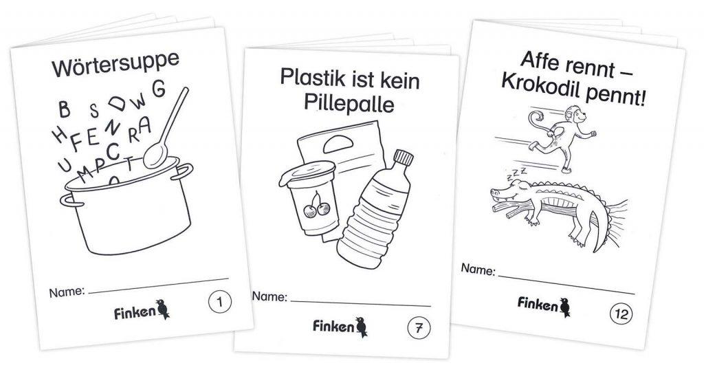 Kinderillustration für Finken-Mini
